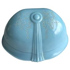 Blue Celluloid Clamshell Ring Box