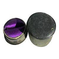 Georgian/Victorian Leather Ring Box
