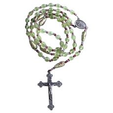 Vintage Murano Art Glass Rosary Signed Italy