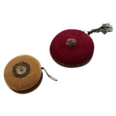Pair of Early Velvet Tape Measures