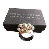 Silpada Vintage  Sterling Original Cha Cha Ring w/Box