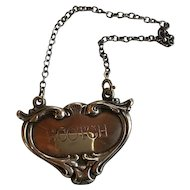 Sterling Scotch Decanter Tag