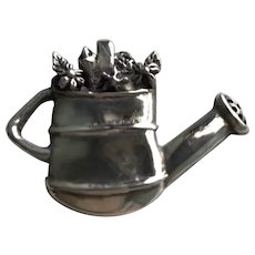 Sterling Watering Can Pendant/Brooch