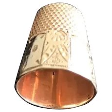 Victorian 14K Gold Waite Thresher Thimble