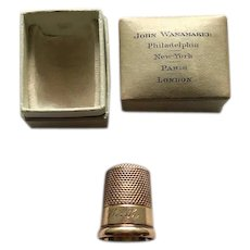 14K Carter Gough Thimble with  Original Box