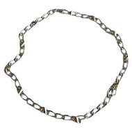 Vintage Tiffany 18K and Sterling Chain Necklace