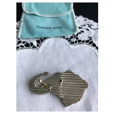 Tiffany & Co. 14K and Sterling Elephant Brooch
