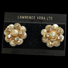 Larry Vrba Haskell Style Clip Earrings
