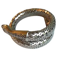 Whiting and Davis Silver Coil Bracelet 1970's