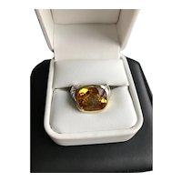 David Yurman 14K/Sterling Noblesse Citrine Ring