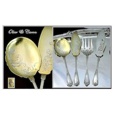 French Louis XV Sterling 4 PC Serving Set: Olier & Caron