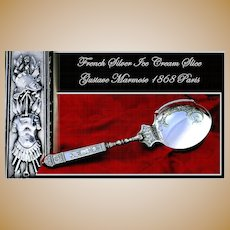 Antique French Silver Vermeil Ice Cream Server Renaissance Style