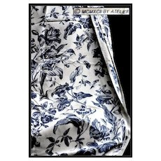 Vintage Floral Foliate Toile by Atelier Originals: Lilies & Morning Glory in Blue & White