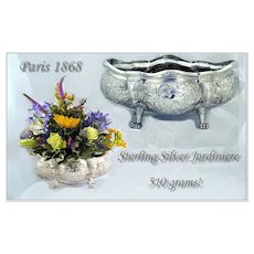 Paillard Freres Antique French Sterling Jardiniere Louis XVI