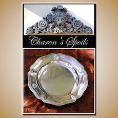 Harleux: Antique French Sterling Silver Charger, Platter: Royal Armorial