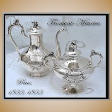 VR Froment-Meurice Antique French Sterling Coffee Pot & Sugar