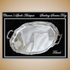 Antique French Sterling Silver Serving Tray: Tetard Freres 1903