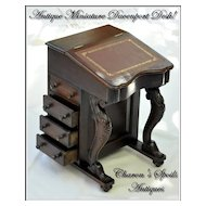 Antique Miniature Davenport or Captain's Desk