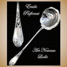 Puiforcat: Antique French Sterling Silver Ladle; Art Nouveau Irises!