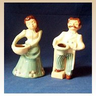 Pair Signed Bennett & Bennett Pottery Figurines