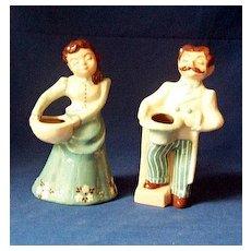 Pair Signed Bennett & Bennett Pottery Figurines