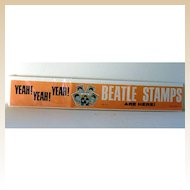Scarce 1964 Beatles Store Display Paper Advertising Banner