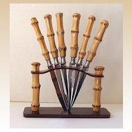 Outstanding Bakelite And Bamboo Fruit Knife Set