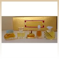 5 Miniature Estee Lauder Perfumes In Original Box