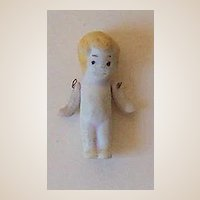 Teeny Tiny OLD Bisque Doll