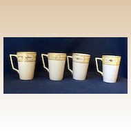 4 Hand Painted Nippon China Lemonade or Hot Chocolate Cups