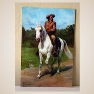 Jumbo Vintage Postcard Buffalo Bill