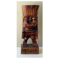 Hand Carved Wood Hawaiian Tiki God Statue