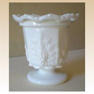 Westmoreland Milk Glass Paneled Grape Pattern