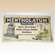 1930's Mentholatum Drug Store Advertising Ink Blotter