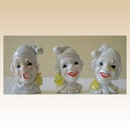3 Unusual Clown Figurines