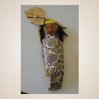Old American Indian Souvenir Papoose Doll