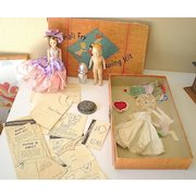 """Vintage """"Small Fry"""" Child's Sewing Kit With Dolls"""