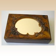 Unusual Vintage 1930's Vanity Dresser Box With Mirror