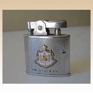 Vintage Hawaiian Cigarette Lighter Coat Of Arms