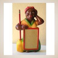 Gorgeous Black Mammy Chalk Note Pad Holder