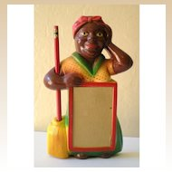 Gorgeous Black Mammy Chalk Note Pad Holder