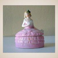 Miniature Half Doll Powder Box German