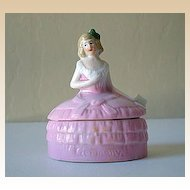 Miniature Half Doll Powder Box German