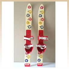 1970's Trak Childrens' Skis With Snoopy Germany