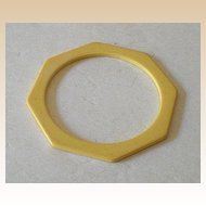 Golden Butterscotch Octagon BAKELITE Spacer Bracelet