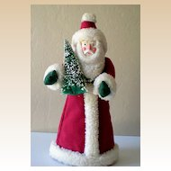 Santa Claus Christmas Tree Topper Folk Art