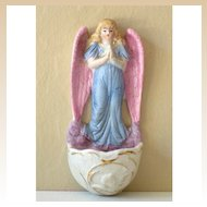 Delicate Old Holy Water Font Guardian Angel Germany