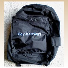 Vintage Bay Meadows Horse Race Track Backpack
