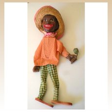 Fabulous Old Black Americana Marionette Puppet