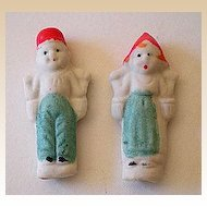 (2) Tiny Old Bisque Dolls Japan